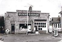 Click to view larger Historical photo of Russ's Garage - image